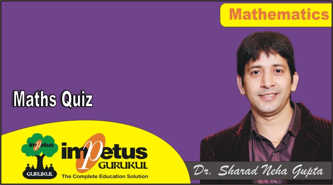 Maths Quiz - 01 - Solution - Part 1