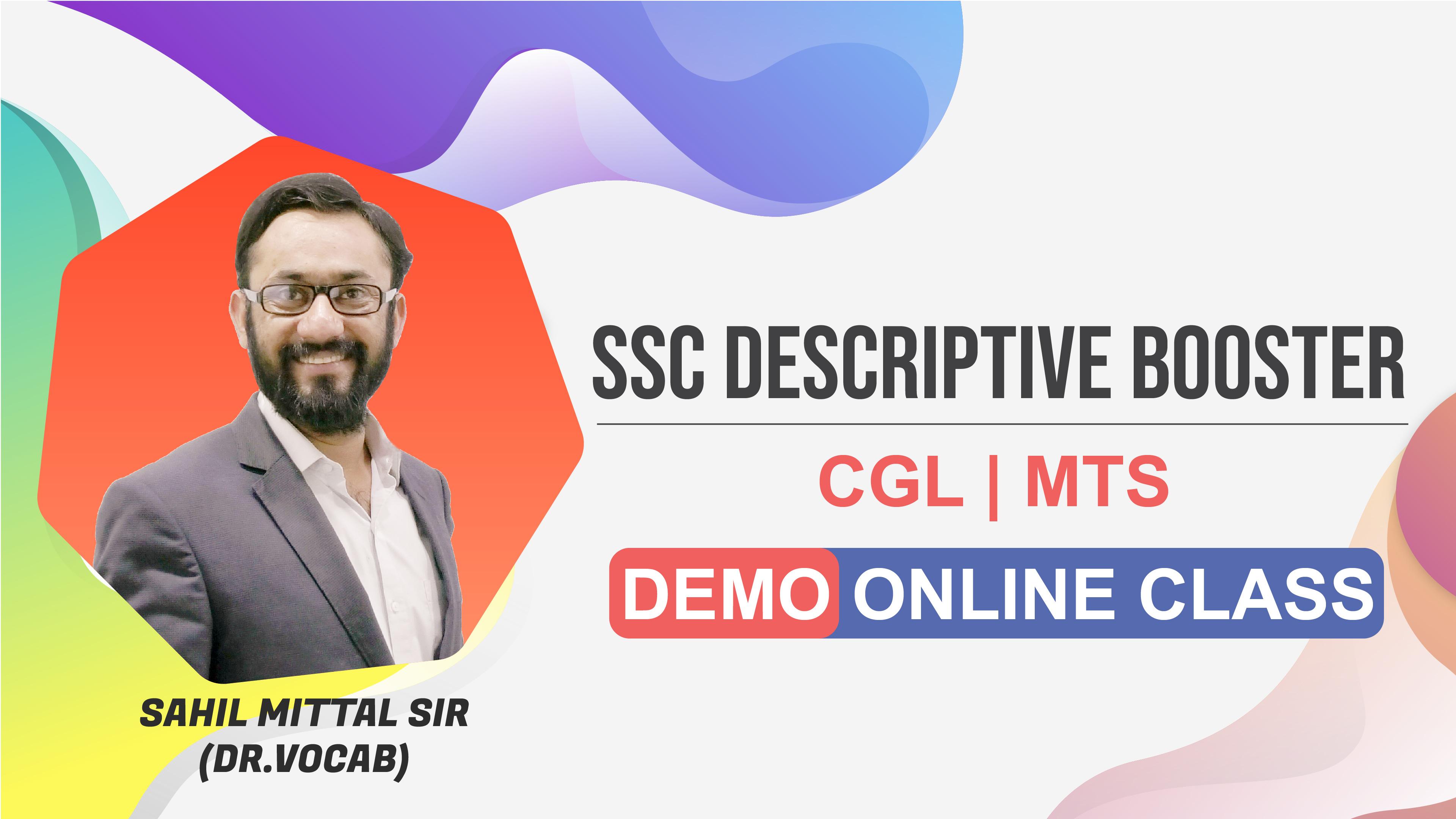 Demo Session | Descriptive | by Sahil Sir