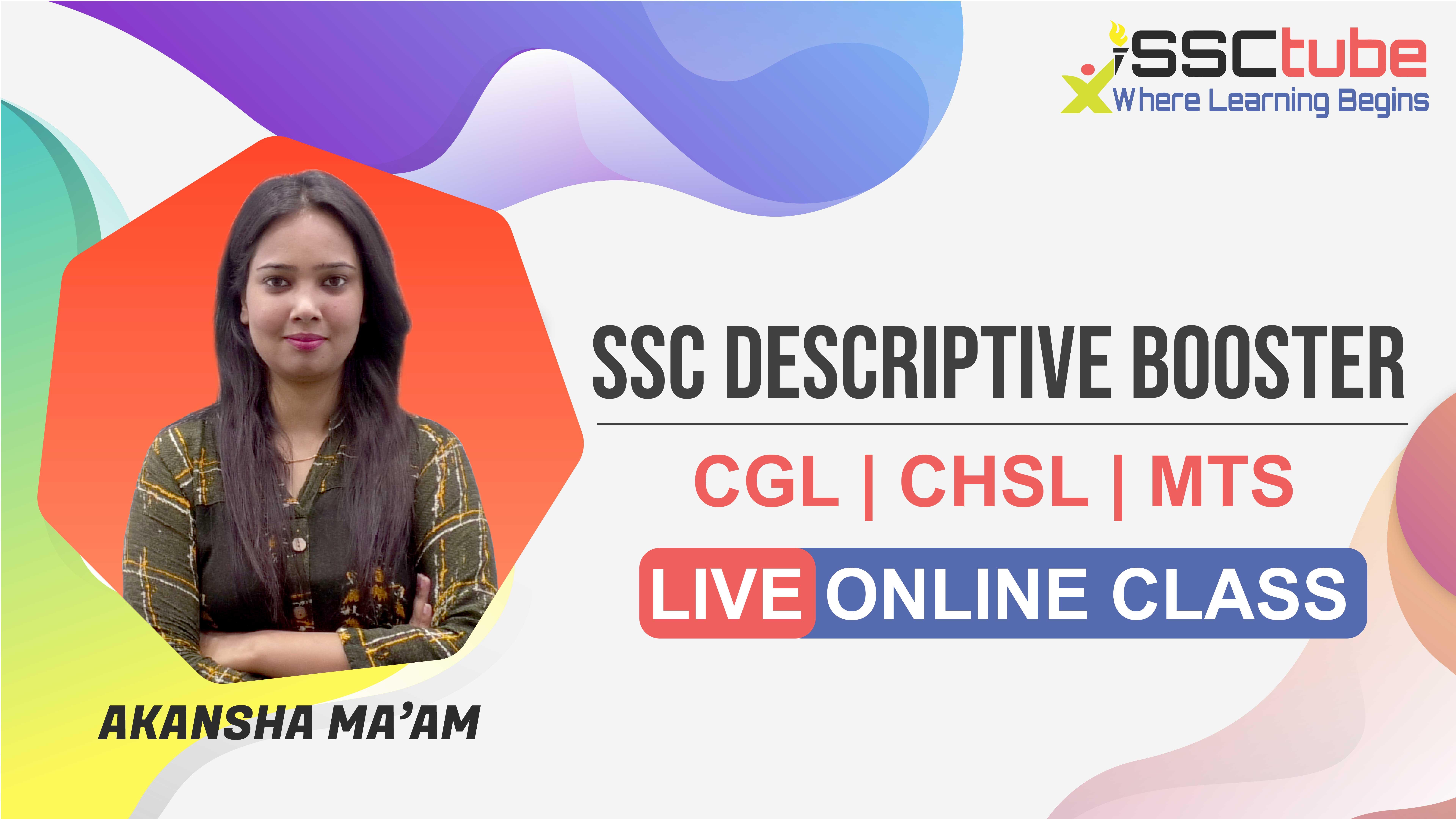 Session 5 | SSC Descriptive | Akansha Ma'am