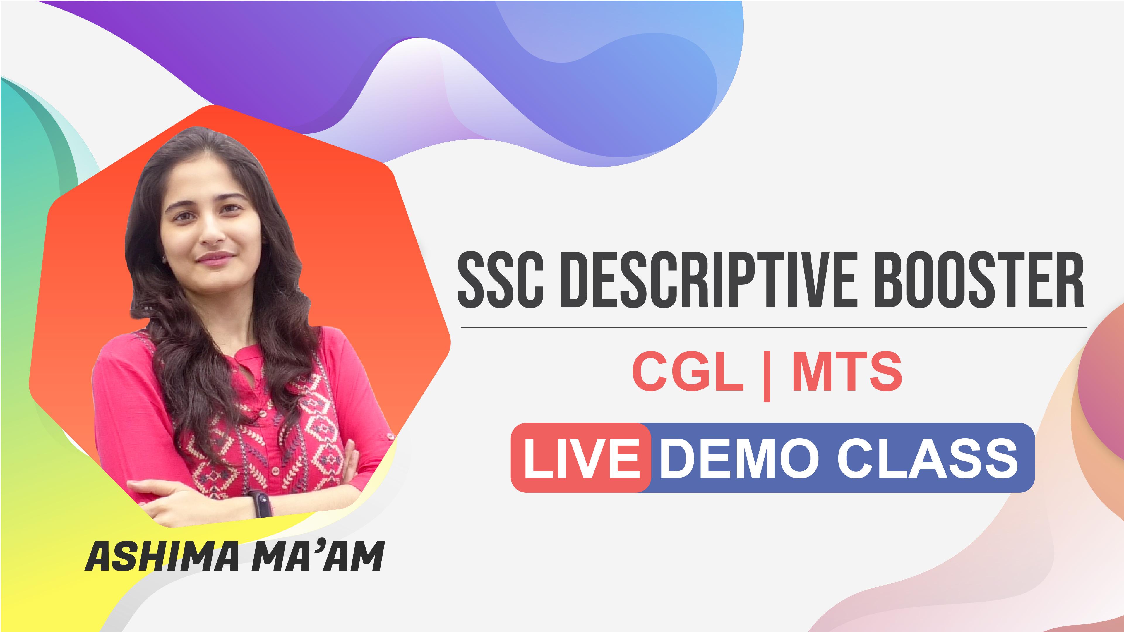 Demo Session 2 | Descriptive | by Ashima Ma'am