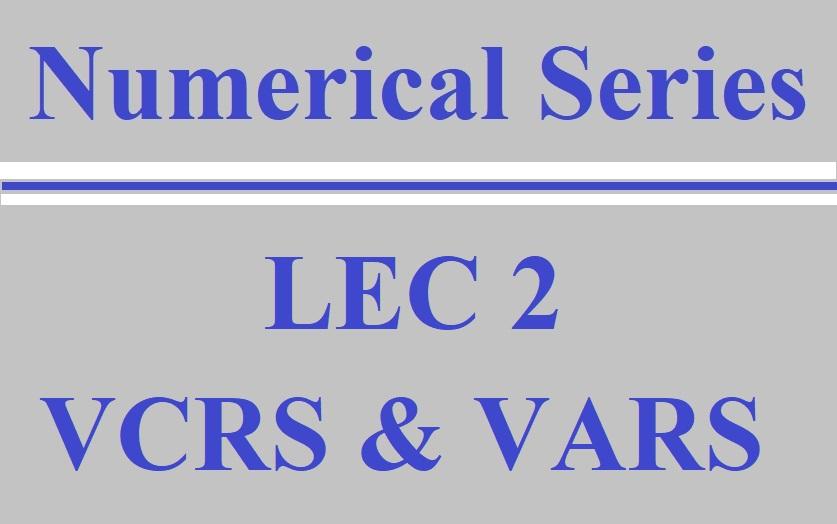 Lec 2 RAC (VCRS and VARS)