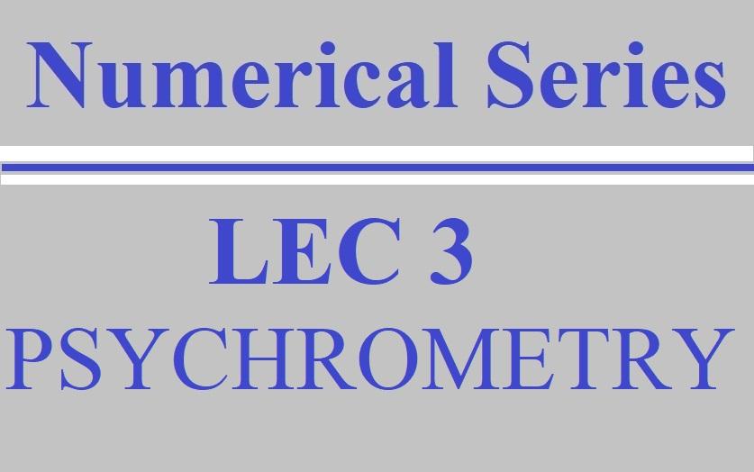 Lec 3 RAC (Psychrometry)