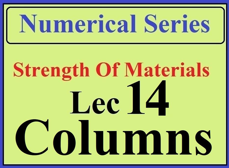 Lec 14 Numericals (Columns)