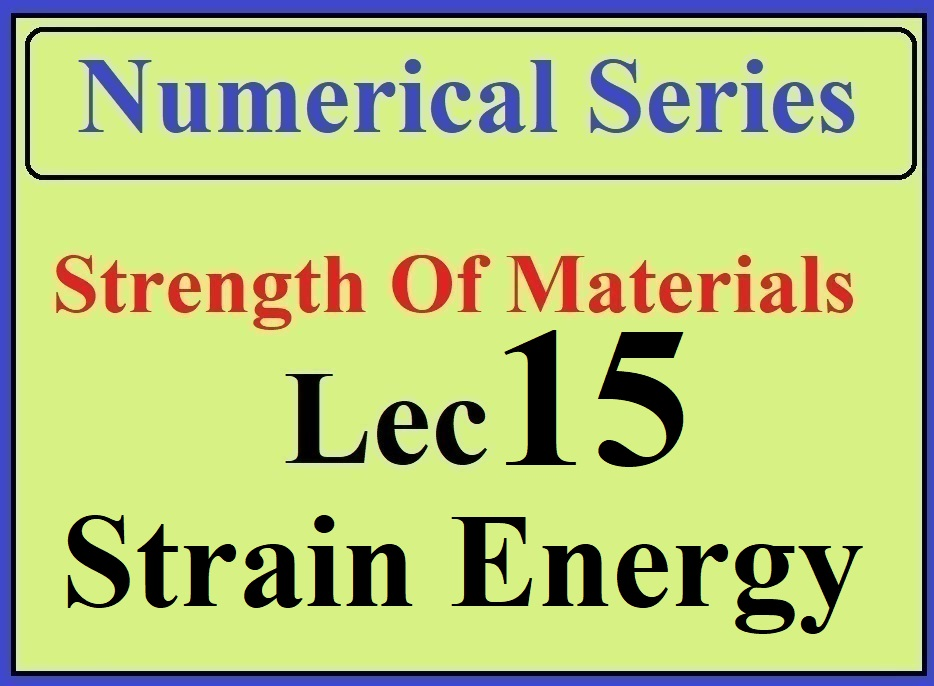Lec 15 Numericals (Strain energy and deflection)