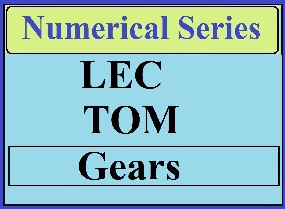 Lec 3 Numerical TOM (Gears)