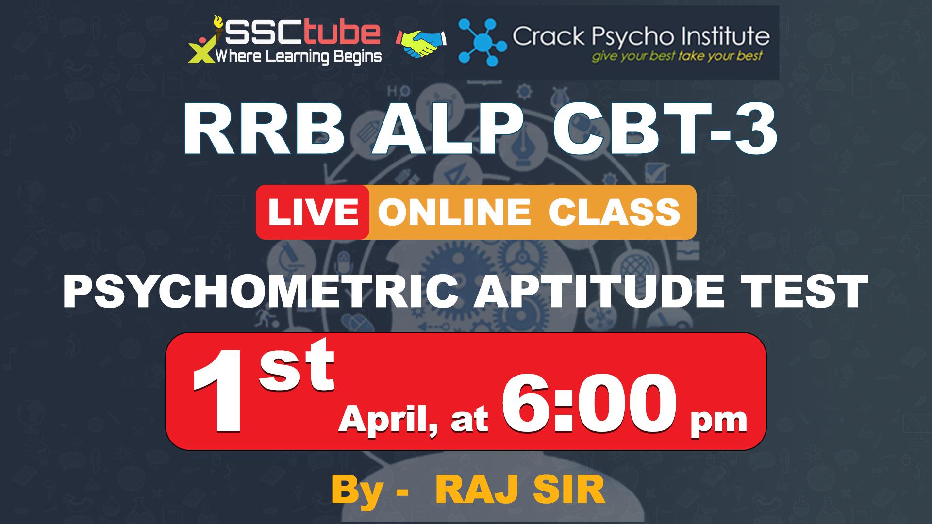Demo   Intro Session   Psychometric Aptitude Test   By Raj Sir