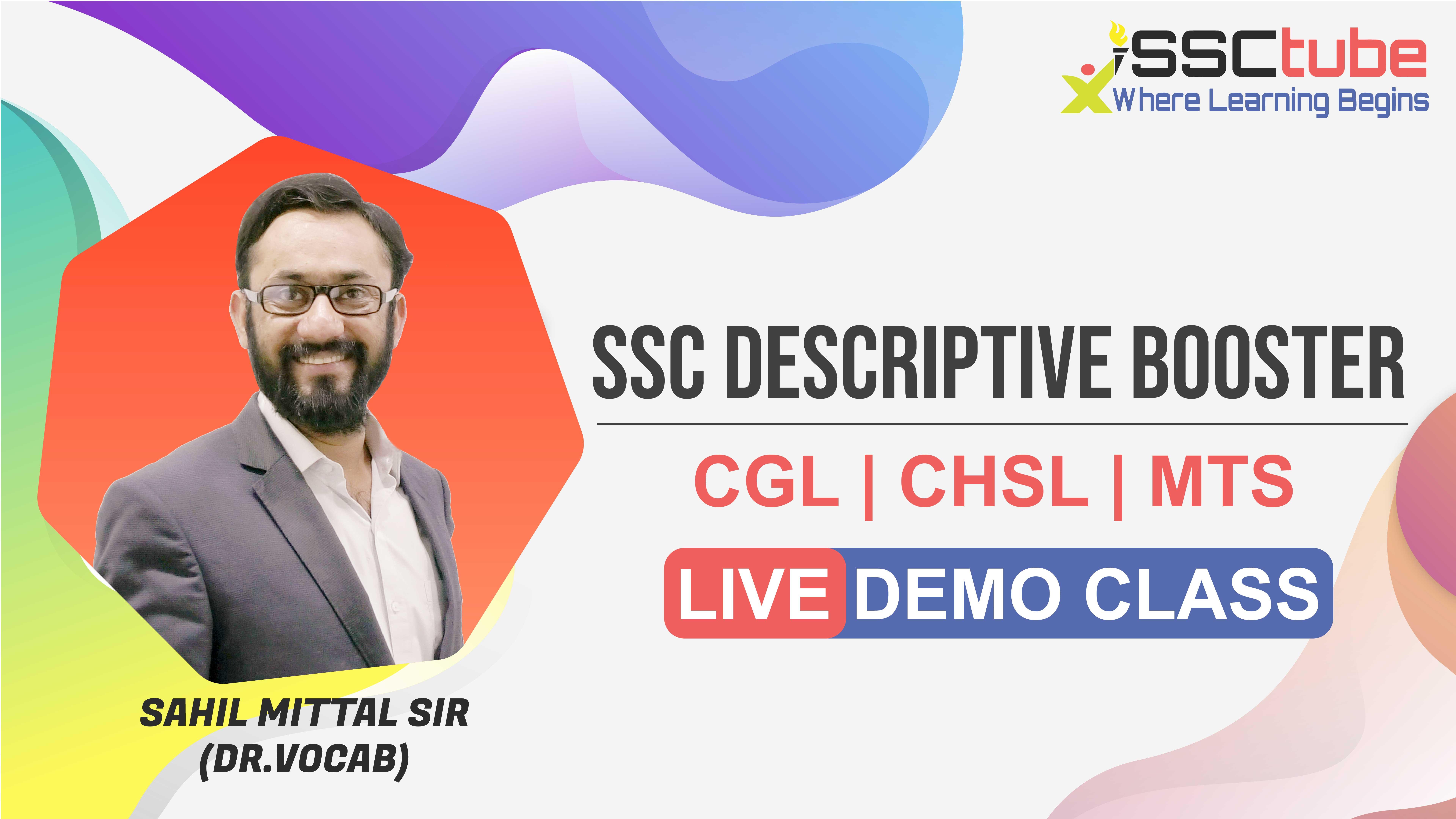 Demo Session   SSC Descriptive   Sahil Sir