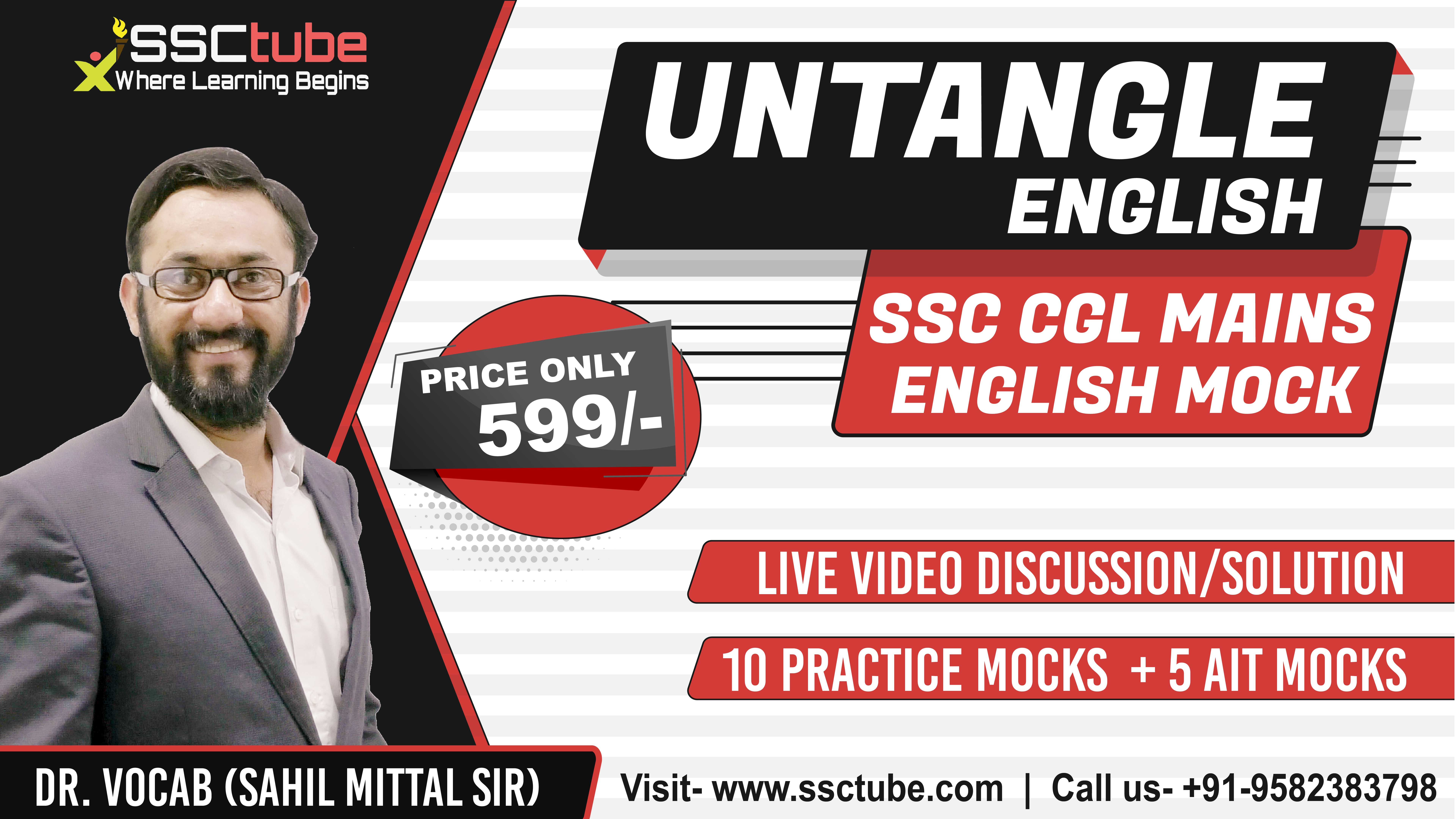 AIT 10 Part-II | English Mock Discussion | by Sahil Sir