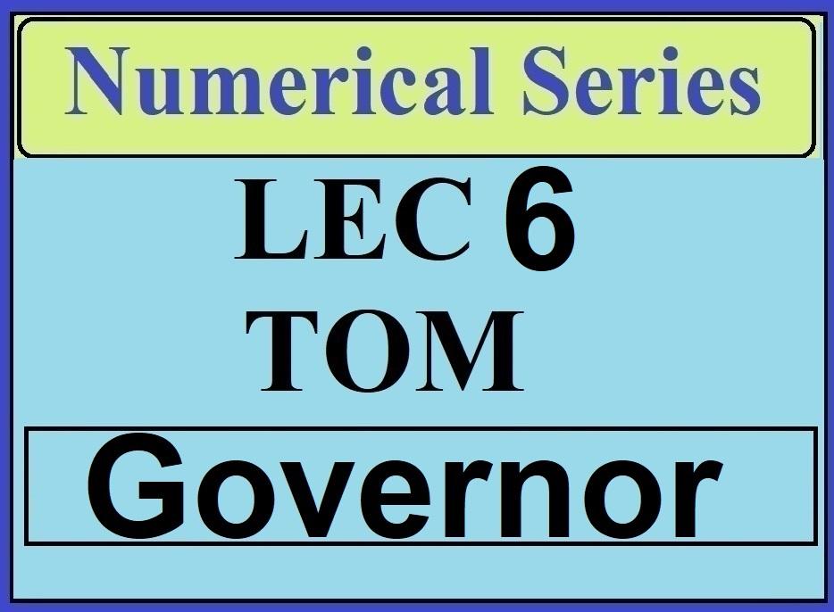 Lec 6 Numerical TOM (Governor)